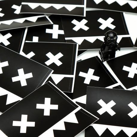Plastic stickers 8x8 cm