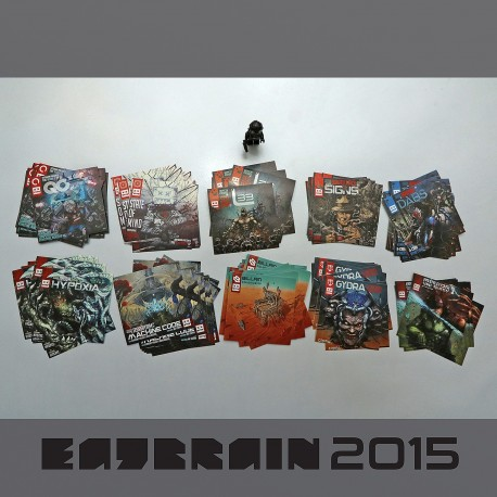Eatbrain artwork sticker collection 2015