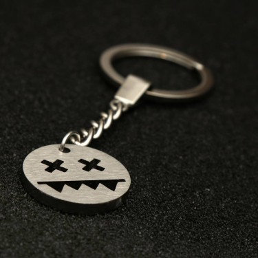 Stainless steel key chain (Circle S)