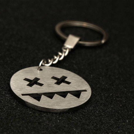 Stainless steel key chain (Circle L)