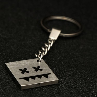 Stainless steel key chain (Square S)
