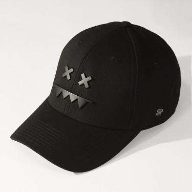 Metal Logo Snapback Dad Hat Matte Black