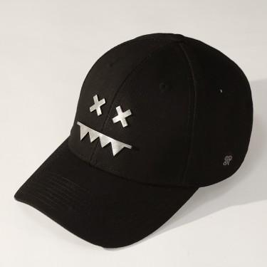 Metal Logo Snapback Dad Hat Brushed