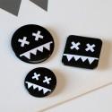 Eatbrain Pin Badges BLACK