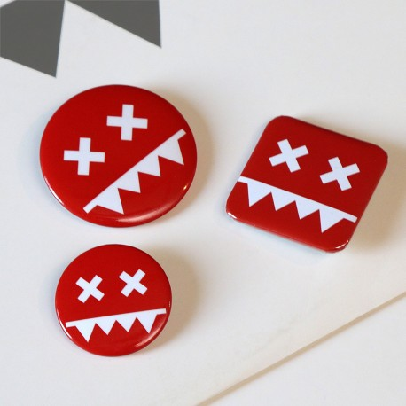 Eatbrain Pin Badges RED