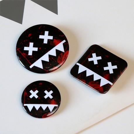 Eatbrain Pin Badges BLOOD