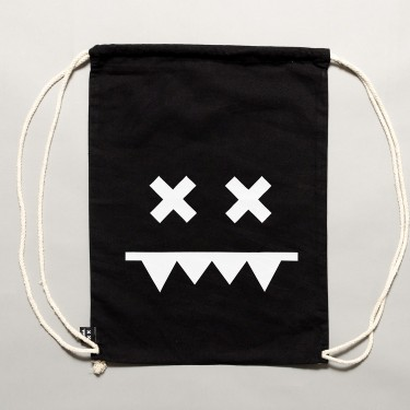 Cotton Gymbag II Black / White