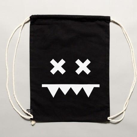 Cotton Gymbag II Black / White