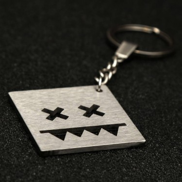 Stainless steel key chain (Square L) 60b32007cc471