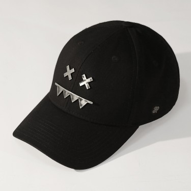 Metal Logo Snapback Dad Hat RAW