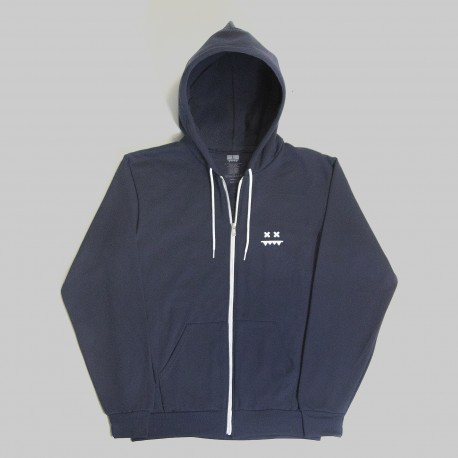 Dead Eyes Inverted Hoodie (Navy Blue)
